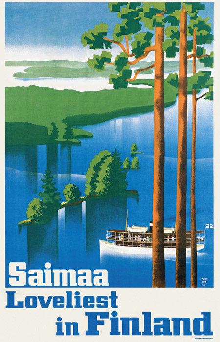 Come to Finland-juliste 50x70, Saimaa...Loveliest