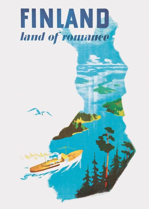 Come to Finland-juliste 50x70, Land of Romance