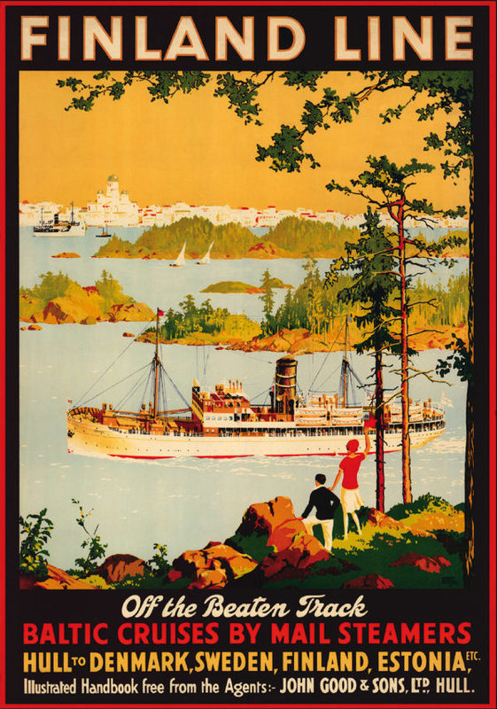 Come to Finland-juliste A4, The Finland Line Off the beaten tracks