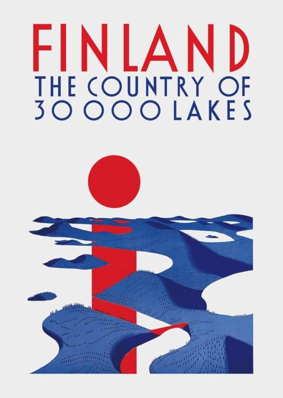 Come to Finland-juliste A4, 30 000 Lakes