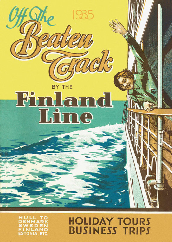 Come to Finland-juliste A4, Off the beaten tracks by the Finland Line