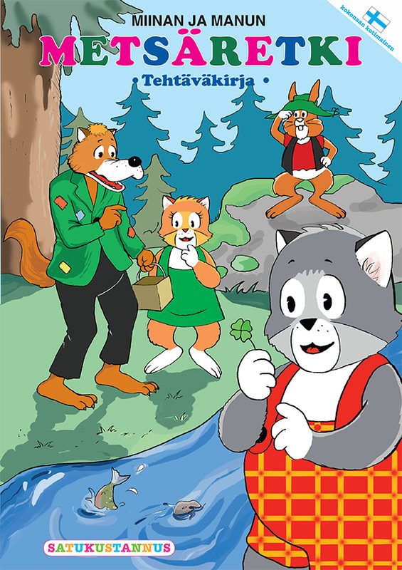 Miinan ja Manun Metsäretki-puuhakirja