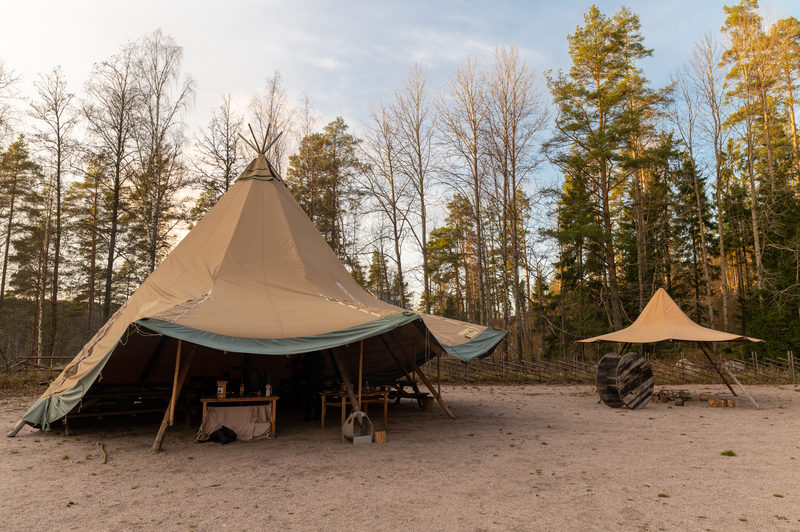 Sami tepee for groups