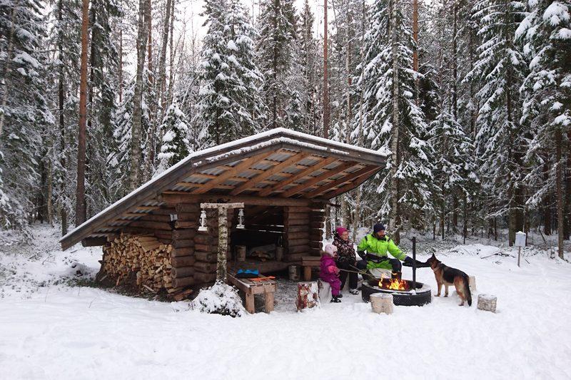 Metsälaavu käytössä myös talvella