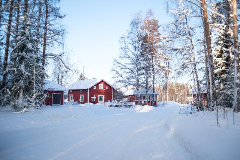 Maatilamatkailu Ilomäen talvimaisemaa