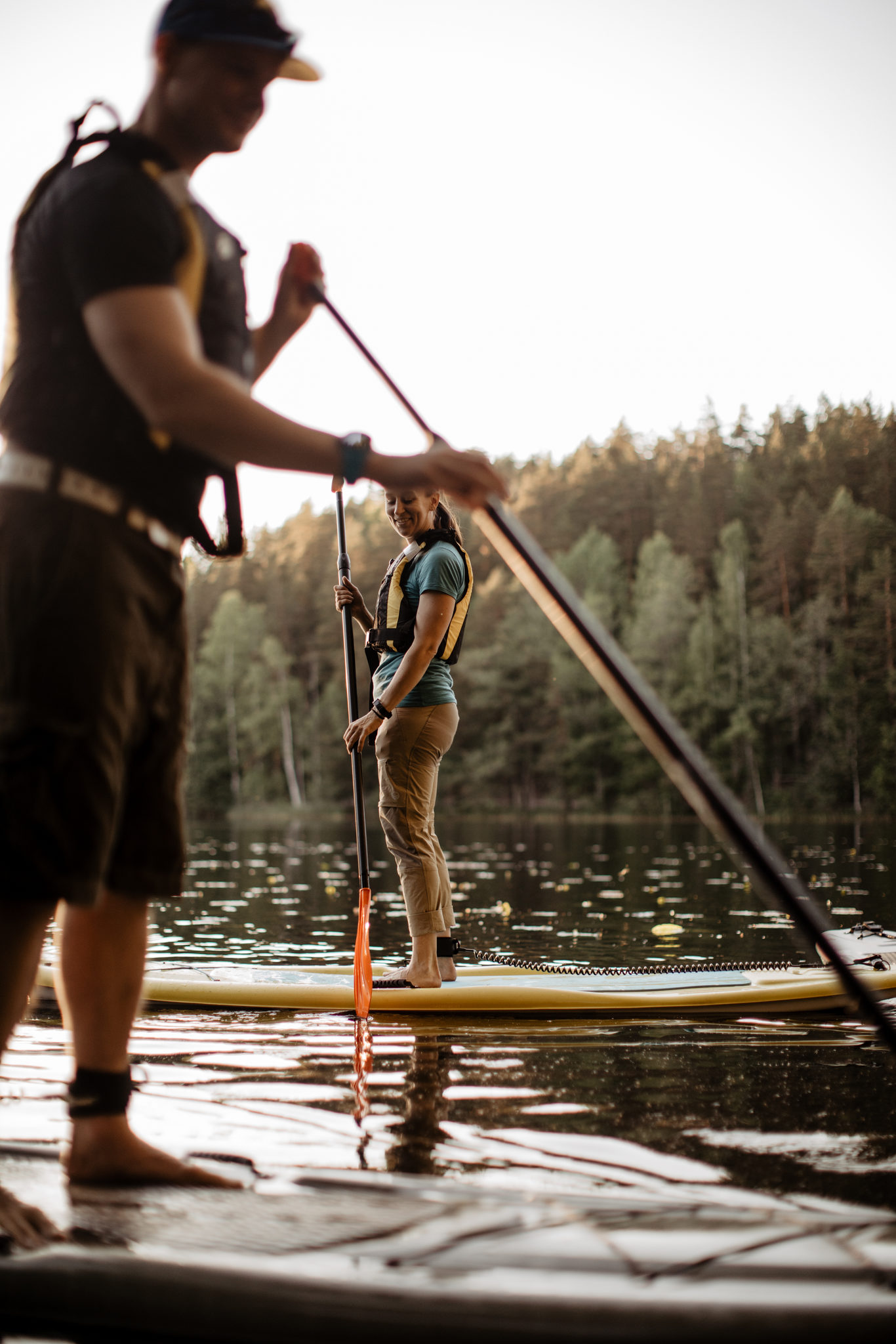 SUP-boards in Nuuksio National Park
