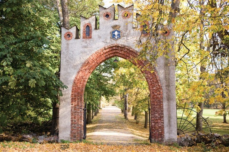 Old gate in Svartå Manor