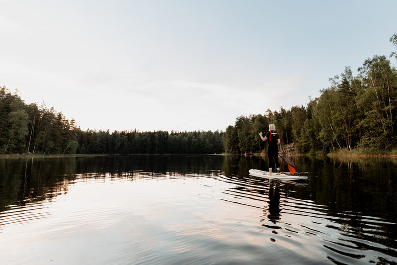 Try everything: Canoe, SUP-paddling and Fatbiking!