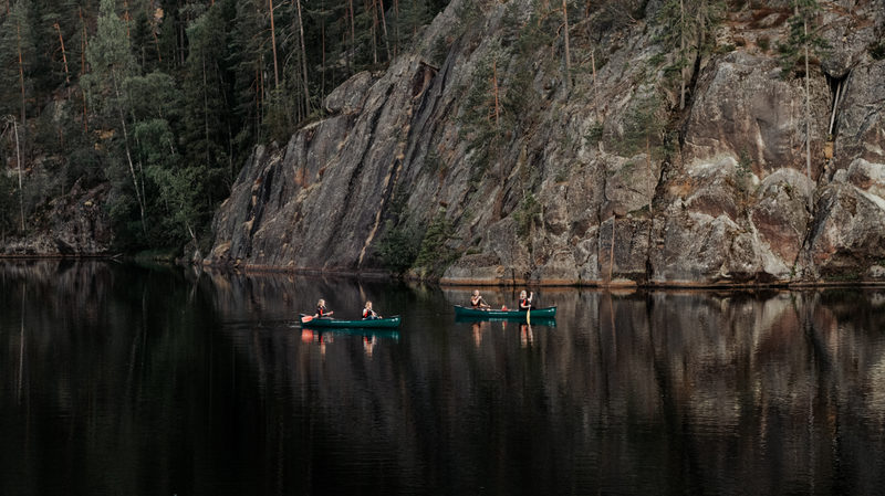 Private Nuuksio Canoe and Hike Adventure