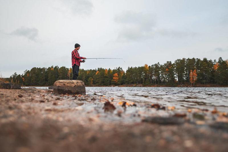 Kalastus Matildanjärvellä