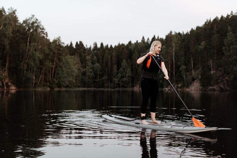 Stand Up Paddling in Nuuksio National park