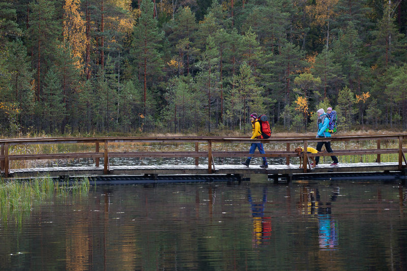 Hiking trails in Nuuksio