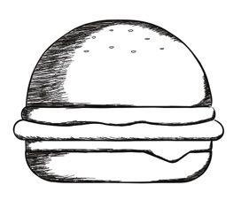Brioche bun burger 80 g