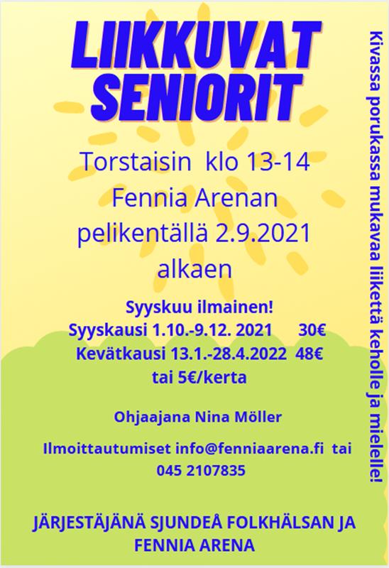 Seniorer i rörelse - Liikkuvat seniorit kausimaksu