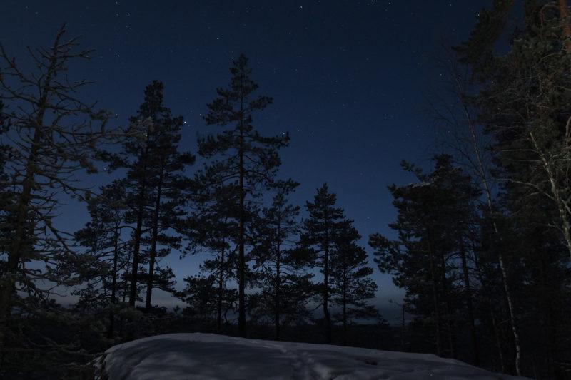 Talviyö Repovedellä 18.-19.2.2020