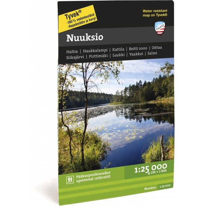 Waterproof Map of Nuuksio Nationalpark by Calazo