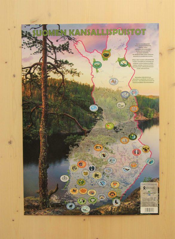 Suomen kansallispuistot -karttajuliste
