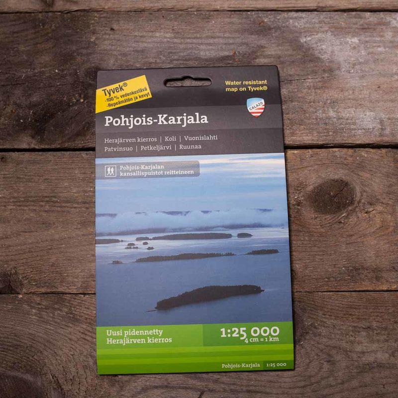 Pohjois-Karjala,  vedenkestävä kartta, Calazo