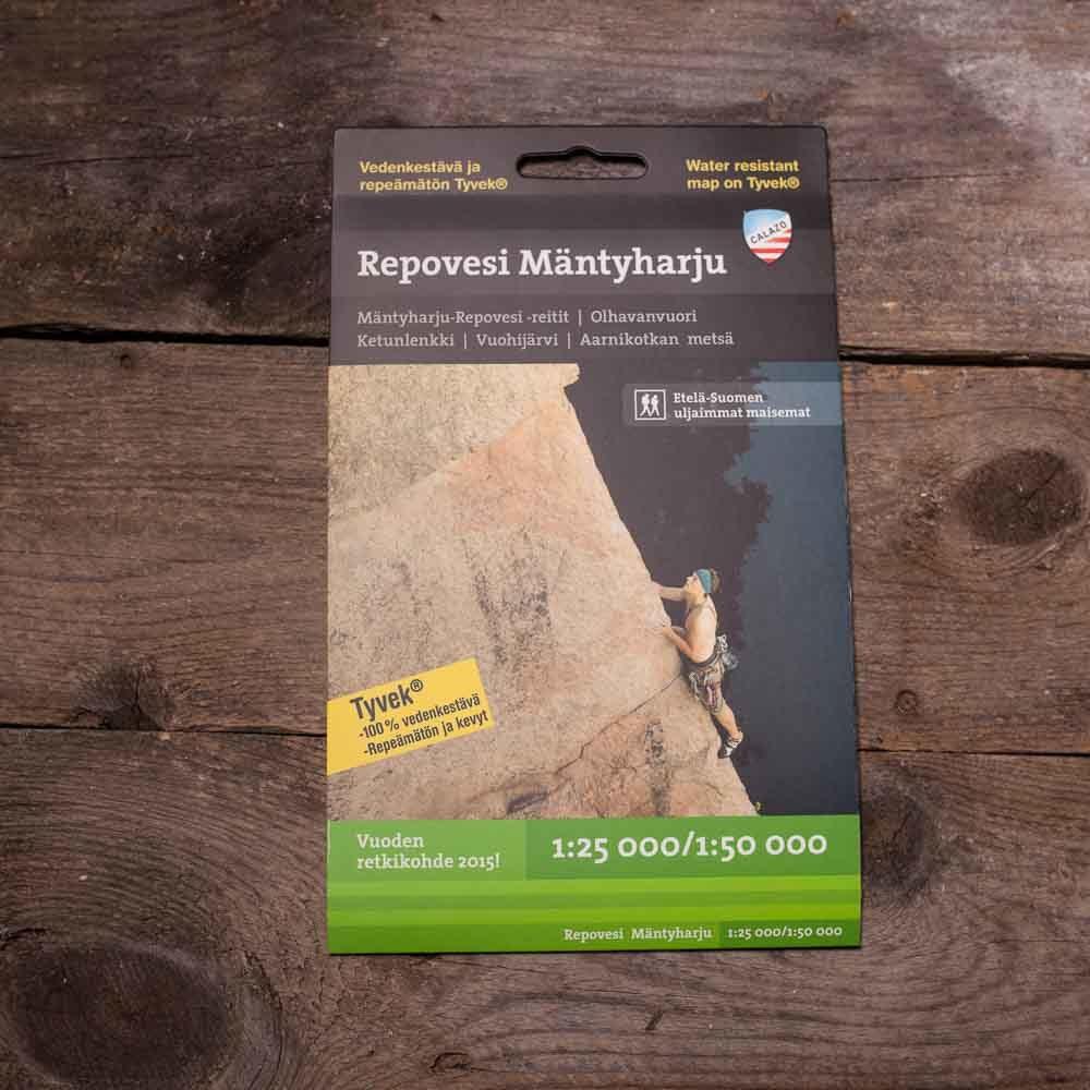 Mäntyharju–Repovesi,  vedenkestävä kartta, Calazo