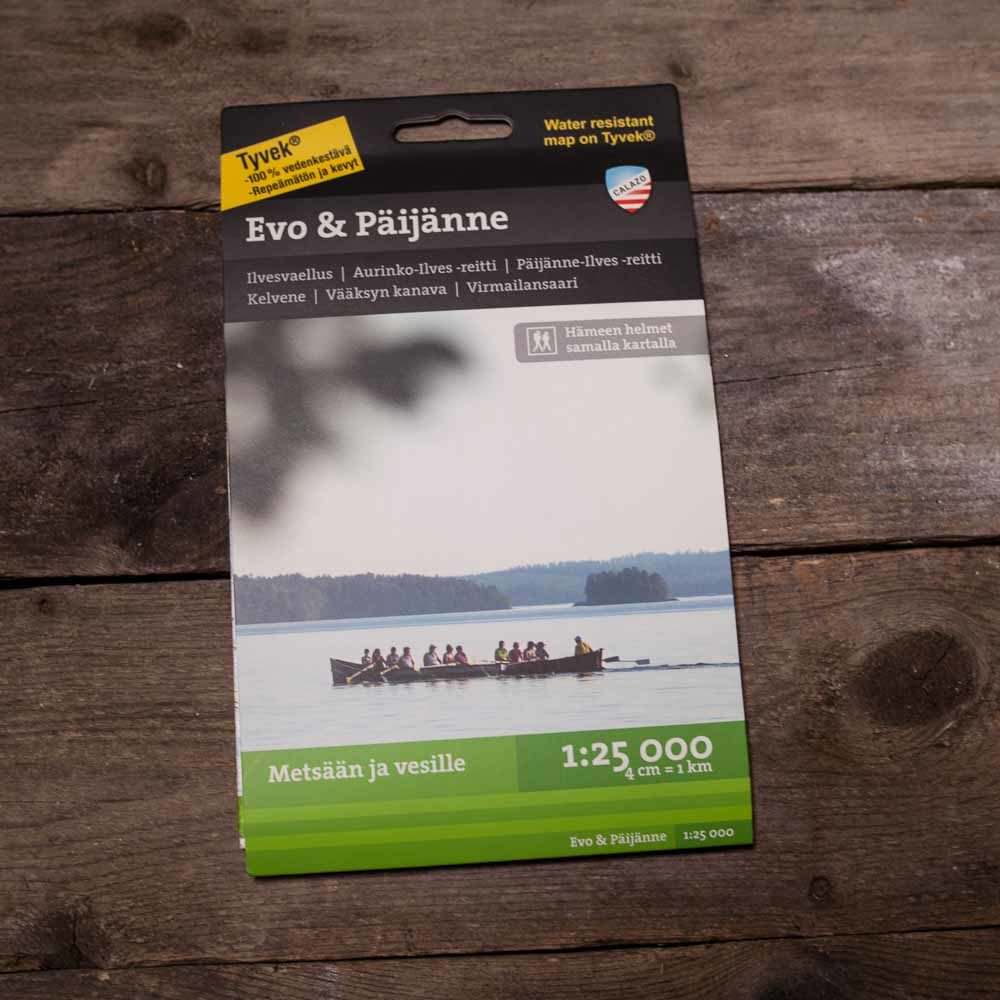 Waterproof Map Of Evo Paijanne By Calazo Finland Naturally