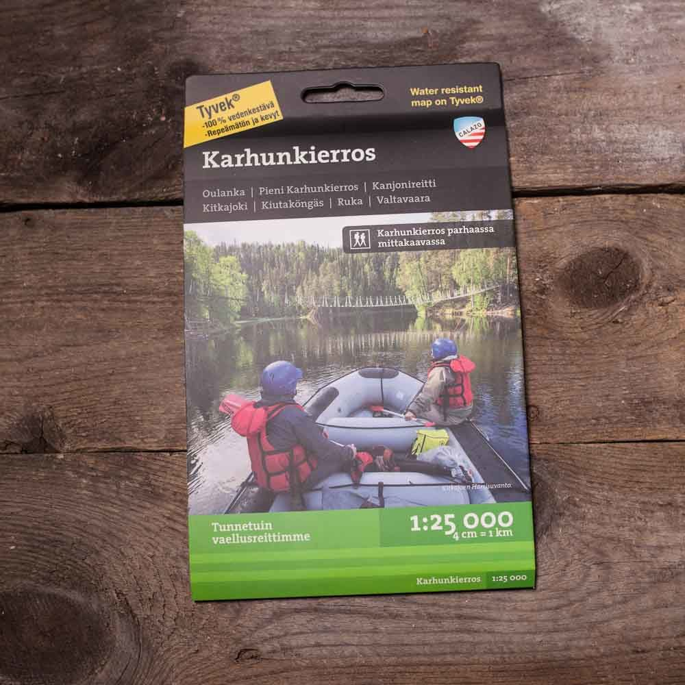 Waterproof Map Of Karhunkierros By Calazo Kartat Finland