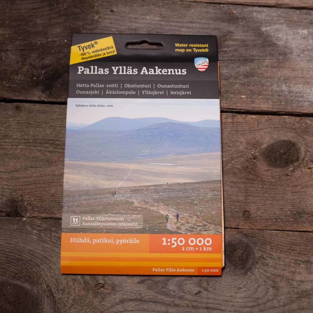 Waterproof Map Of Pallas Yllas Nationalpark And Aakenus By