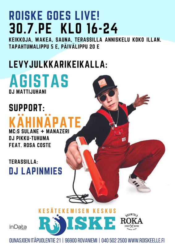 RoiskeLive! 30.7.2021 MC Agistas & KähinäPate KEIKKALIPPU