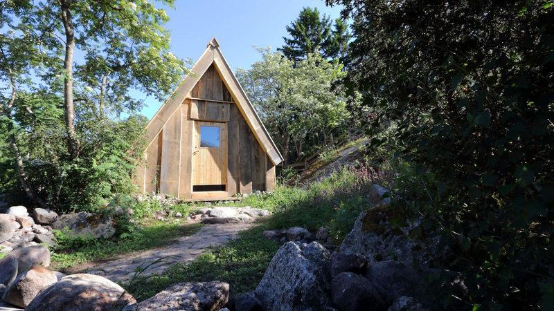 Viikinkikeskuksen yöpymismökki Sten