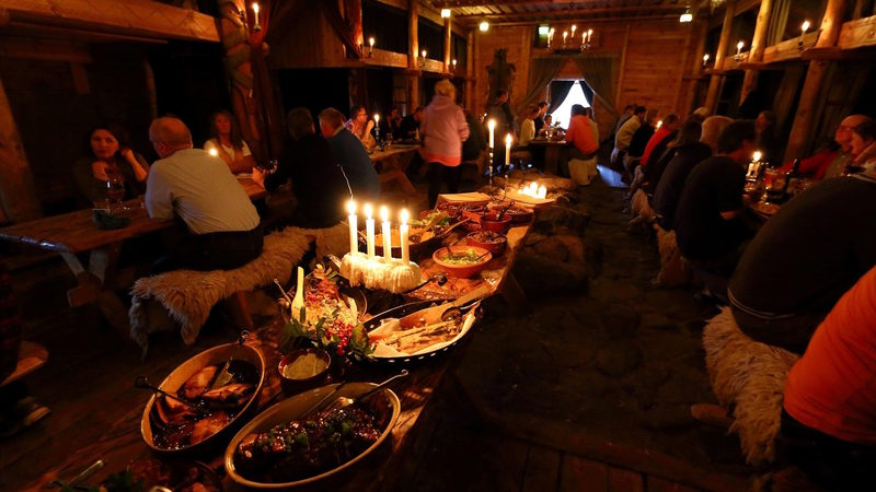 Viking dinner on the Night of the Ancient Fires