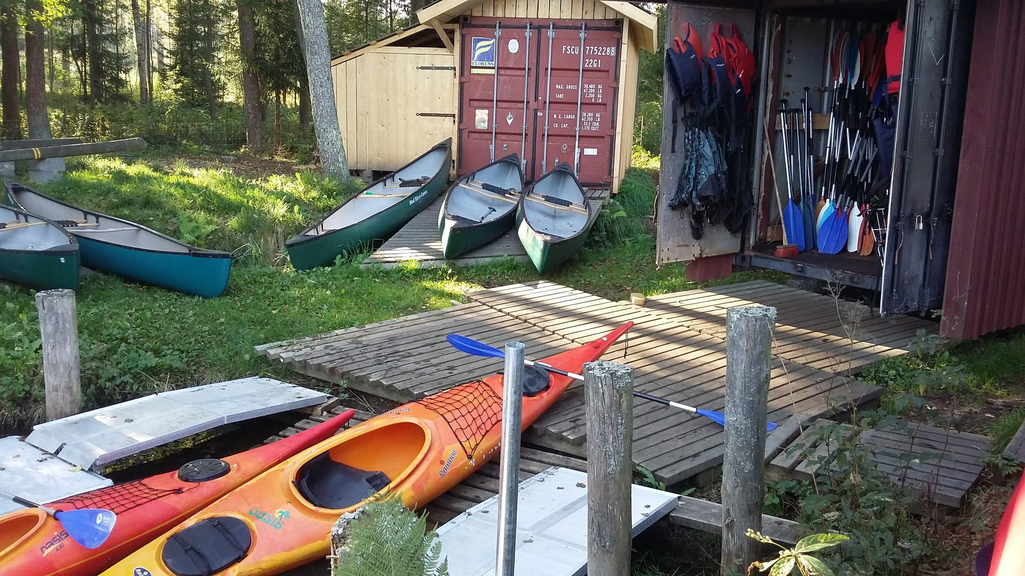 Rental equipment at Siuntio Canoe Center