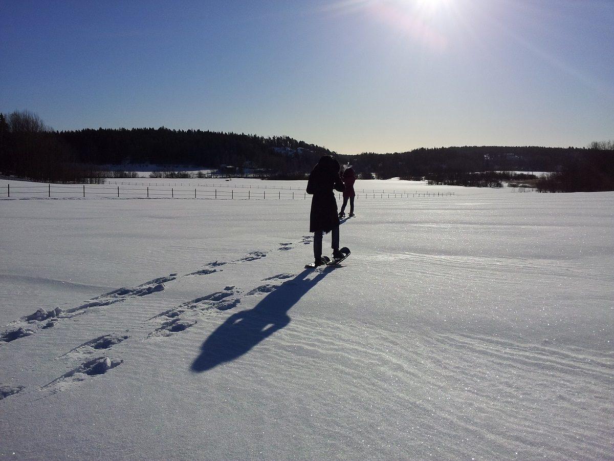 Lumikenkäily Fiskarsissa