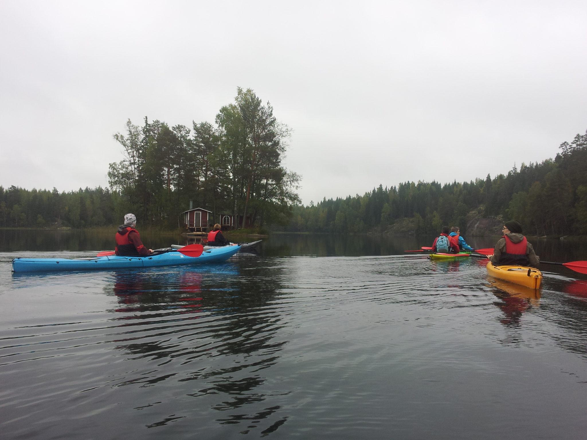 Simijärvi-Lutsjö-Myllyjärvi yksikkökajakilla