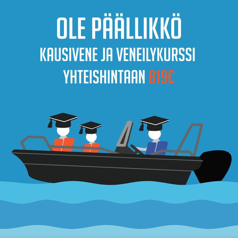 Kausiveneoikeus 2021  ja Ole Päällikkö Veneilykurssi