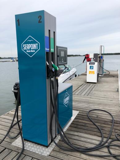 Seapointin polttoaine automaatti Porkkalan veneasemalla