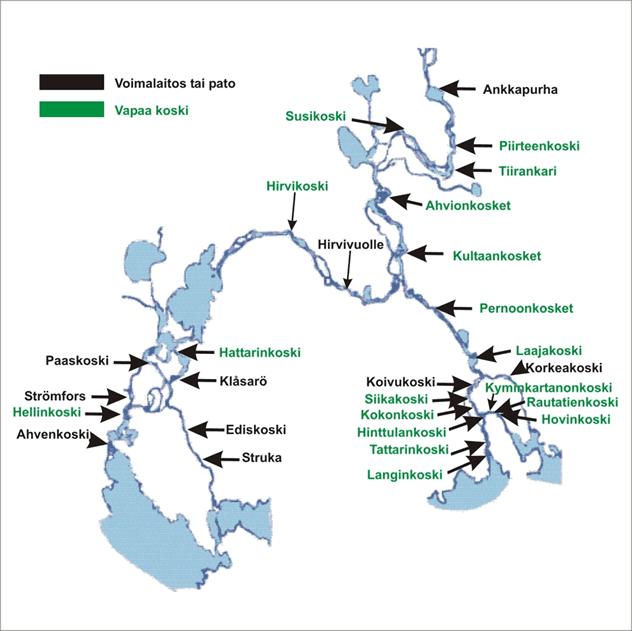 Kymijoen vapaat kosket ja voimalaitokset