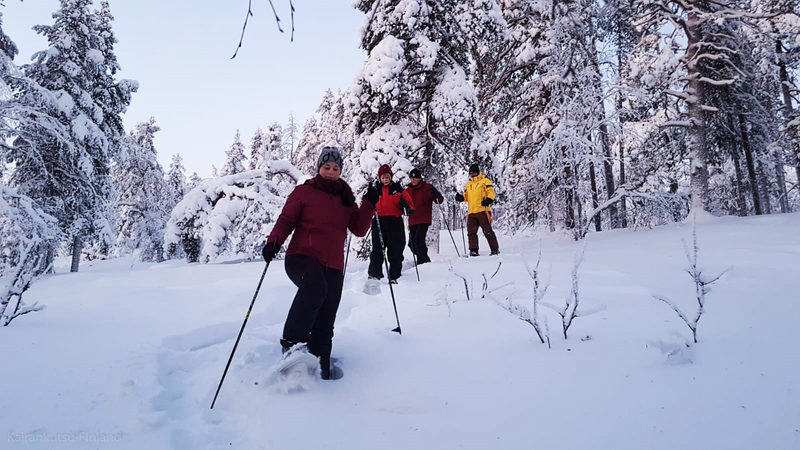 Snowshoeing to the Amethyst Mine in Pyhä, Lapland