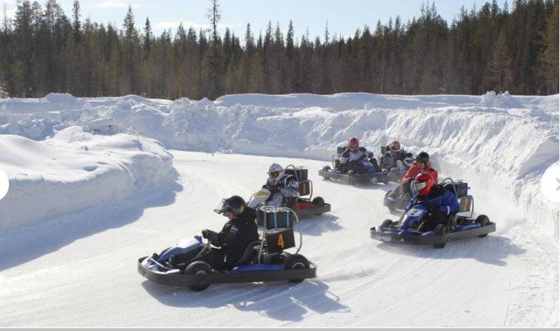Jääkarting Levillä, 1.5-2h kuljetuksineen yleinen lähtö