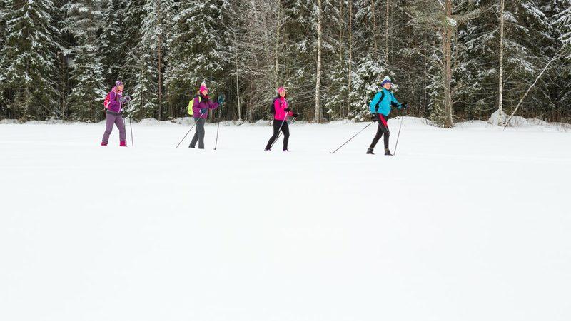 Rauhallinen hiihtotahti - Perinteistä hiihtoa nautiskellen, siitä on tässä retkessä kyse