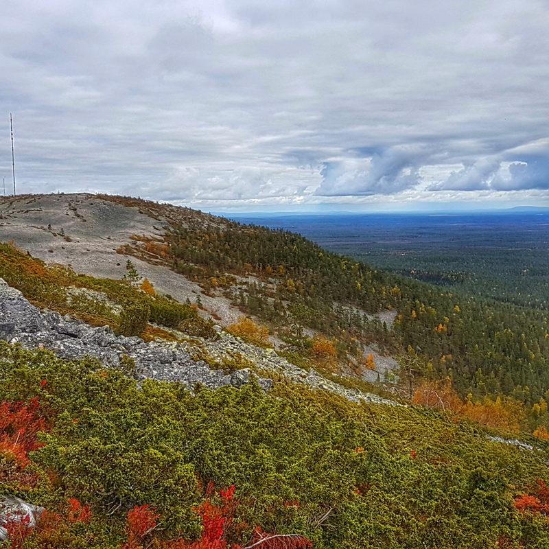 Noitatunturin upeat näkymät - Vaellus halki Pyhä-Luoston kansallispuiston ylös Noitatunturille, josta upeat näkymät yli kansallispuiston.