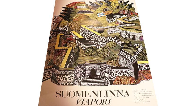Juliste: Erik ja Sinikka Bruun, Suomenlinna Viapori 1967