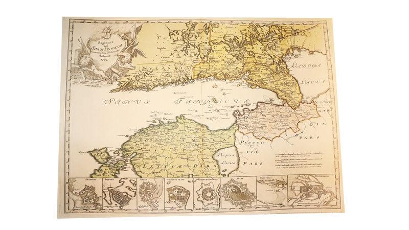 Juliste: 1742 kartta ja rannikkolinnoitukset