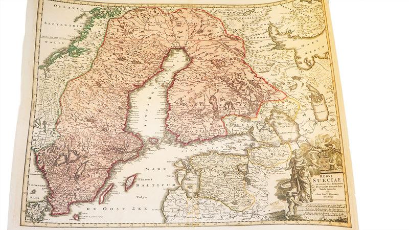 Juliste: Vuoden 1745 kartta