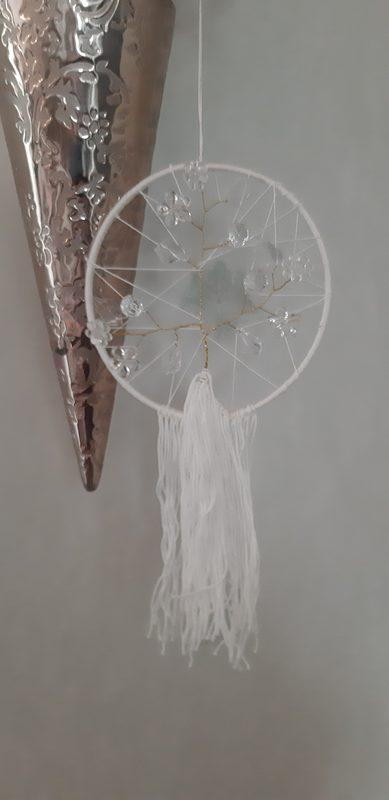 Unisieppari - elämänpuu, valkoinen
