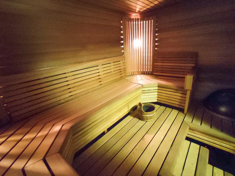 Taigalampi, sauna