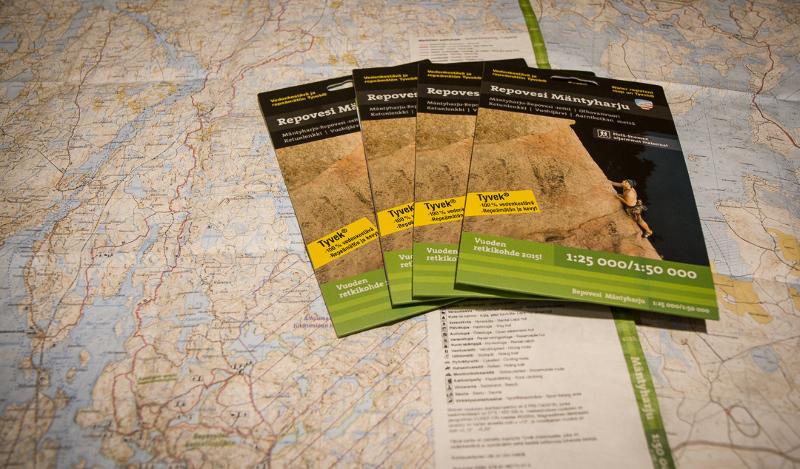 Vedenkestävä Repovesi-Mäntyharju -kartta