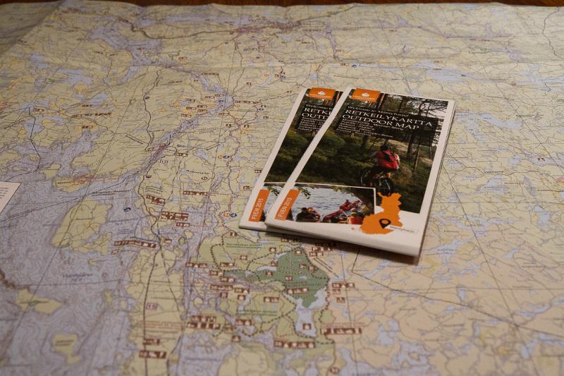 Mäntyharju-Repovesi retkeilykartta