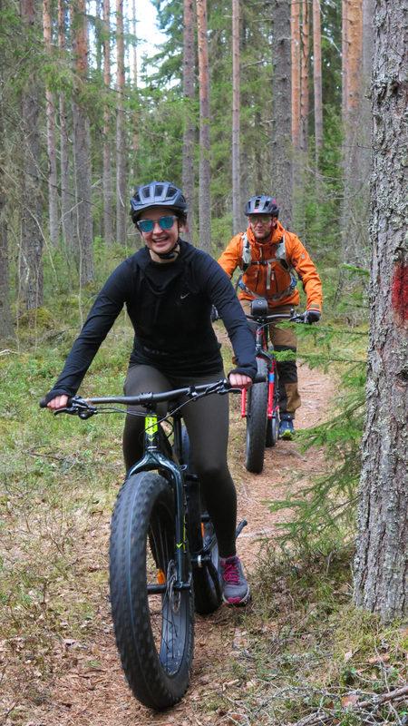 FOREST TREK WITH FATBIKE ( Laukaa and Jyväskylä area)