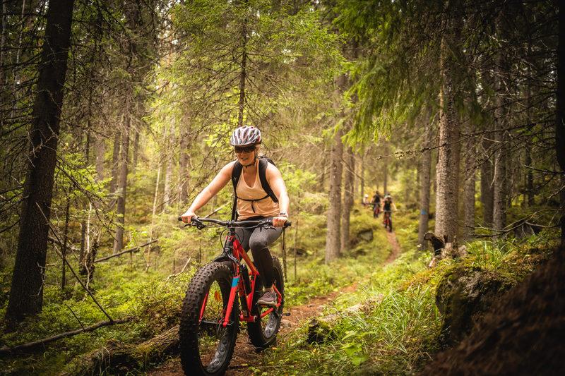 Fatbike-retki jätkän jäljillä Isojärven kansallispuistossa
