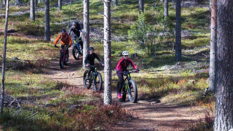 Fatbike-retki Laulavan Mörön upeille poluille Äänekoskelle 17.10.2020 klo 12
