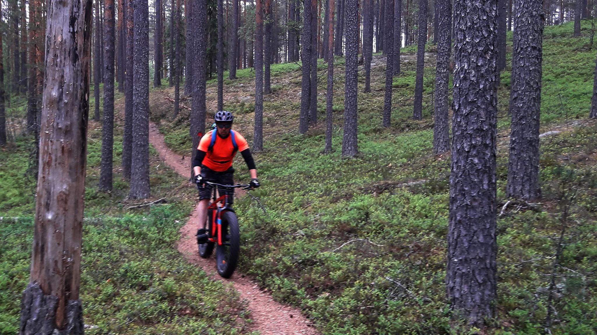 Fatbike-retki Leivonmäen kansallispuiston upeille poluille ympäri vuoden!